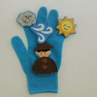 ハンドメイド 手袋シアター 北風と太陽 保育 送料無料(その他)