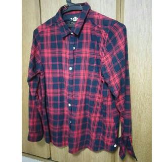 シマムラ(しまむら)の赤×黒カジュアル*チェックシャツ*HKWL(シャツ/ブラウス(長袖/七分))