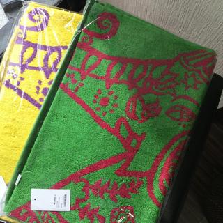 チャイハネ(チャイハネ)の新品タグ付き、チャイハネ象タオル2枚セット(タオル)