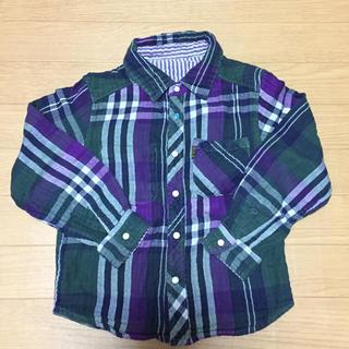 エフオーキッズ(F.O.KIDS)の新品未使用 エフオーキッズ リバーシブルチェックシャツ 120センチ(ブラウス)