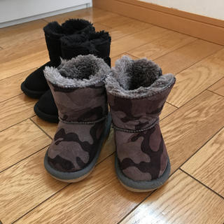 ムートンブーツ 迷彩(ブーツ)