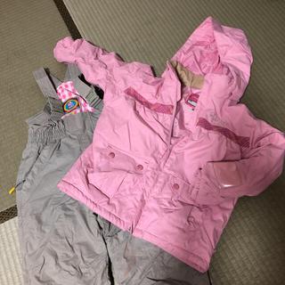 スキーウェア女の子120 と新品スノーブーツセット20cm(ウエア)