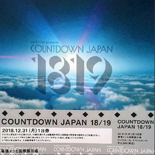 CDJ1819チケット 31日(音楽フェス)