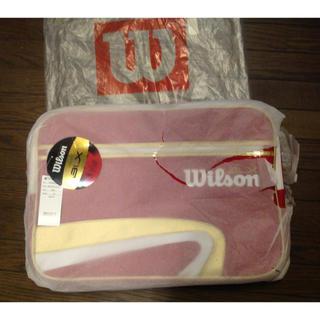 ウィルソン(wilson)の【新品】Wilson ウィルソン エナメルショルダーバッグ 《大》テニス(バッグ)