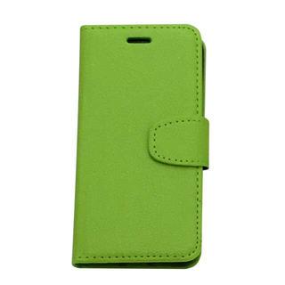 送料無料iPhone 6s/6 Plus ケース手帳型黄緑 jhgfgbk(iPhoneケース)