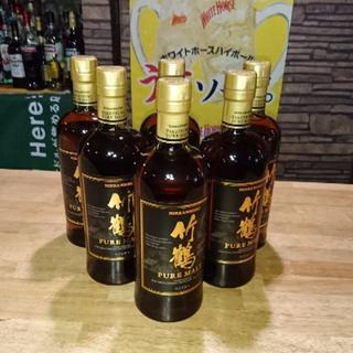 ニッカウイスキー(ニッカウヰスキー)の竹鶴ピュアモルト 6本(ウイスキー)