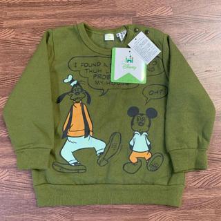 ディズニー(Disney)の新品 ミッキー 裏起毛トレーナー 90(Tシャツ/カットソー)