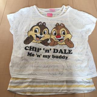 ディズニー(Disney)の160  チップとデール  女の子  半袖  タンクトップ(Tシャツ/カットソー)