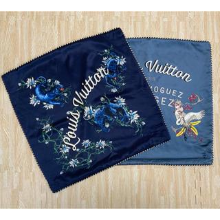 ルイヴィトン(LOUIS VUITTON)の【美品】ルイヴィトン クッションカバー 2枚セット(クッションカバー)