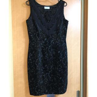 アトリエサブ(ATELIER SAB)のベロア 刺繍 フリンジ ドレス ワンピース(ミディアムドレス)