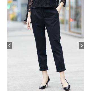 ラウンジドレス(Loungedress)の【名品】Loungedress◆ 裾ねじりパンツ 黒(クロップドパンツ)