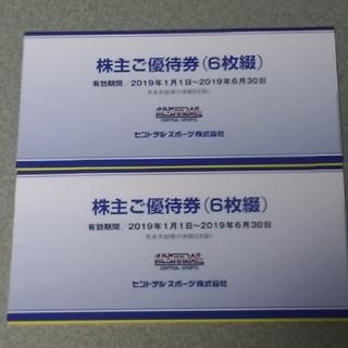 セントラルスポーツ 株主優待券 12枚(フィットネスクラブ)
