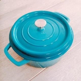 限定色 コージークック鋳物ホーロー鍋22cm シアン(鍋/フライパン)