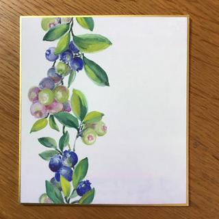 豆色紙  ブルーベリー(アート/写真)