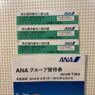 エーエヌエー(ゼンニッポンクウユ)(ANA(全日本空輸))のANA株主優待券 3枚(航空券)