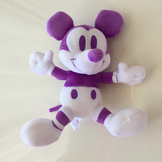 ディズニー(Disney)のディズニー ミッキー ぬいぐるみ パープル(キャラクターグッズ)