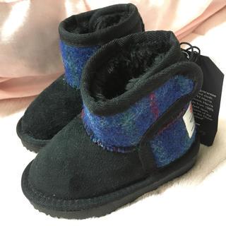 シマムラ(しまむら)の新品未使用しまむら ハリスツイード  ブーツ 13㎝ (ブーツ)