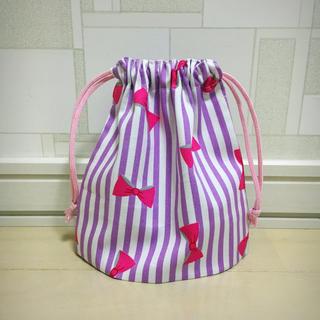 専用 紫ストライプ コップ袋(その他)
