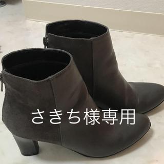 ジーユー(GU)のGU ショートブーツ ダークグレー(ブーツ)