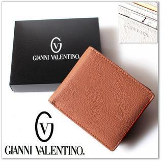 ジャンニバレンチノ(GIANNI VALENTINO)の新品 ジャンニ バレンチノ 二つ折り 財布 キャメル 手触り抜群(折り財布)