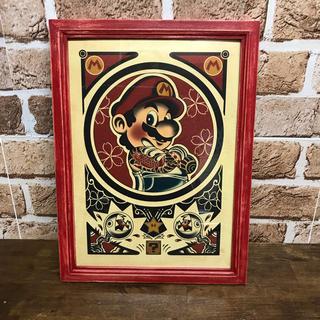 アートフレーム オリジナルデザイン 和風 鯉 和彫りのマリオ NO11(アート/写真)