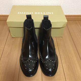 ディエゴベリーニ(DIEGO BELLINI)のDIEGO BELLINI  スタッズサイドゴアブーツ(ローファー/革靴)