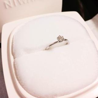 ニワカ(俄)の俄 花雪 婚約指輪 0.275ct(リング(指輪))