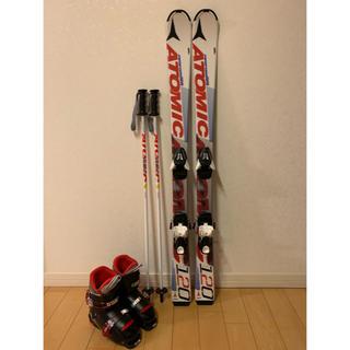 アトミック(ATOMIC)のジュニアスキーセット 板ATOMIC120 ブーツ21cm(板)