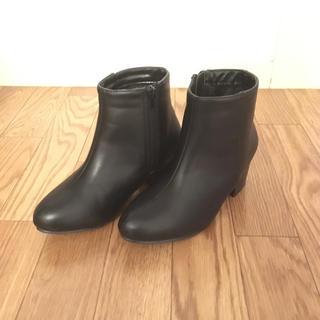 コウベレタス(神戸レタス)の☆かいママ様☆ ショートブーツ スムースブラック S (ブーツ)