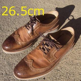 ザラ(ZARA)のザラ ウィングチップ スエード靴 こげ茶 26.5cm(スニーカー)