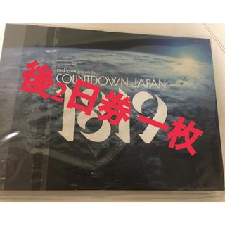 カウントダウンジャパン 後2日券(音楽フェス)