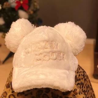 ディズニー(Disney)のポンポンキャップ 《美品》メモ帳付き♡(キャップ)