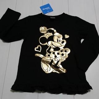 ディズニー(Disney)の新品タグ付きミニーマウス黒✕ゴールドロングTシャツ110センチロンT(Tシャツ/カットソー)