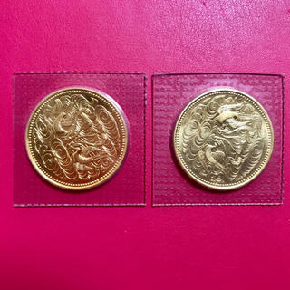 天皇陛下御在位60年記念10万円金貨  2枚  レターパックプラス送料込(貨幣)
