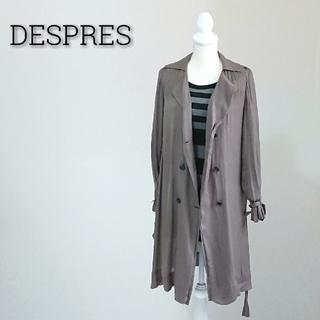 デプレ(DES PRES)のDESPRES デプレ シャツワンピース ダークグレー レディース(ひざ丈ワンピース)