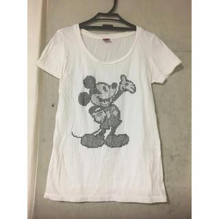 ディズニー(Disney)のミッキー*ラインストーンTシャツ(Tシャツ(半袖/袖なし))