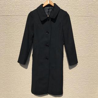 ルーニィ(LOUNIE)のLOUNIE ルーニィ コート 黒 ブラック カシミヤ混 36(ロングコート)