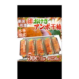 ここさま専用。新潟佐渡あんぽ柿250g5パック合計1250g(フルーツ)