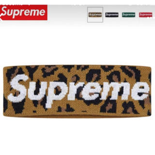 Supreme - New Era Big Logo Headband Leopard