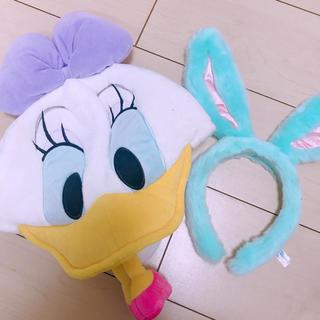 ディズニー(Disney)のディズニー カチューシャ 帽子 セット(キャラクターグッズ)