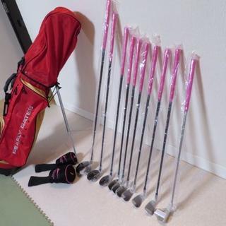 PEARLY GATES - レディース ゴルフセット(パーリーゲイツキャディバッグ、クラブ新品)