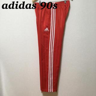 アディダス(adidas)の90s adidas トラックパンツ ジャージ スリーライン 刺繍ロゴ(スラックス)