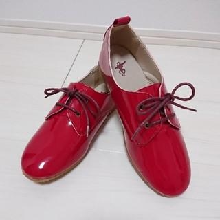 ザラ(ZARA)の新品♡REDレザーシューズ(ローファー/革靴)