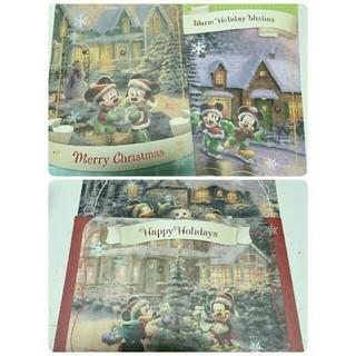 ディズニー(Disney)のきらきらラメ付きクリスマスカード 4枚  サンタクロース クリスマス プレゼント(カード)