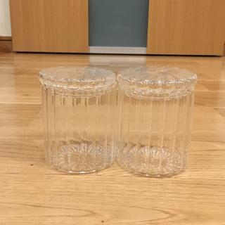 無印良品 ガラス コットン 綿棒 ケース 小 モール 2個セット 廃番品