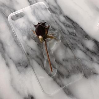 iPhoneケース Black Rose 7/8(iPhoneケース)