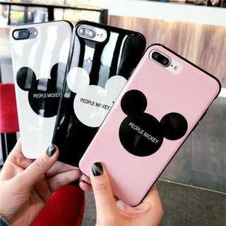 大人気!可愛いミッキー!iPhone7plus iPhoneケース!ブラック(iPhoneケース)