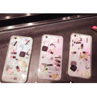 キラキララメ グリッター 流れる コスメ スマホカバー iphone7 送料無料(iPhoneケース)