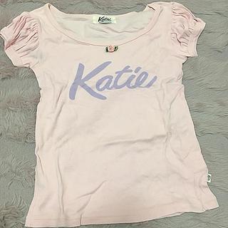 ケイティー(Katie)のKatie ロゴパフ袖トップス最終価格(カットソー(半袖/袖なし))