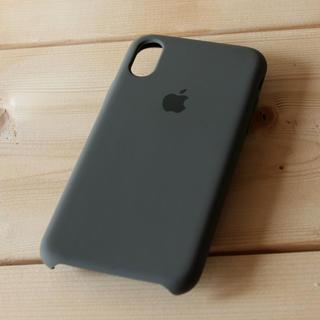 iPhone X シリコーンケース ダークオリーブ(iPhoneケース)